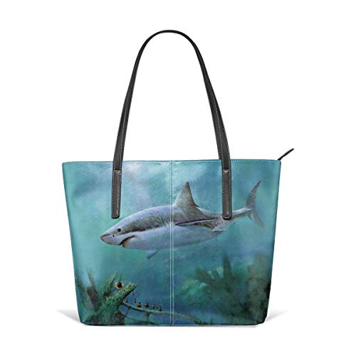 XGBags Custom Frauen Umhängetaschen Waterproof Great Shark Leather Handbag Tote Bag For Women (Frauen Handtaschen Jessica Simpson)
