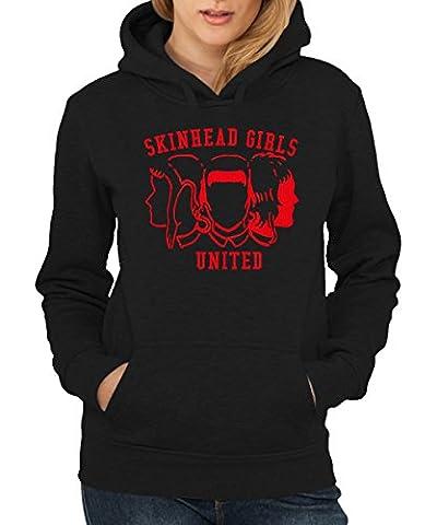 -- Skinheadgirls United -- Girls Hoody Schwarz, Größe