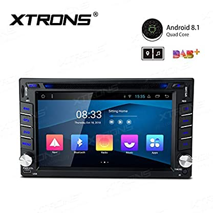 XTRONS-62-Android81-Autoradio-mit-Touchscreen-Quad-Core-DVD-Player-Autostereo-MirrorLink-4G-WiFi-Full-RCA-Ausgang-Bluetooth-Lenkradfernbedienung-16GB-ROM-DAB-OBD2-FR-Nissan