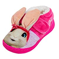 Peter Rabbit Girls Lily Bobtail 3D Slippers Kids Fleece Lined Nursery House Shoe