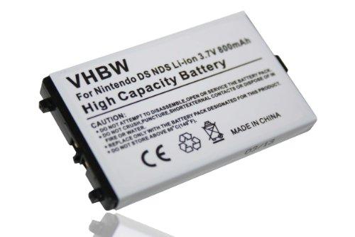 vhbw Li-Ion Akku 800mAh (3.7V) für Spielkonsole wie Nintendo NTR-003