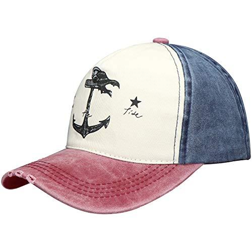 Selldorado® - Gorra de béisbol retro, estilo vintage, azul
