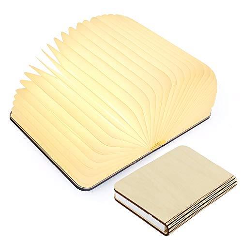 lampade libro USB ricaricabile pieghevole in legno magnetico LED Light del libro di lamp - 2500mAh batterie al litio scrivania lampada da tavolo