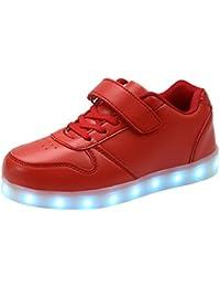 AFFINEST LED Leuchtet Schuhe Sneakers mit USB Einem Geschenk der Kinder Jungen Mädchen Weihnachten Neujahr