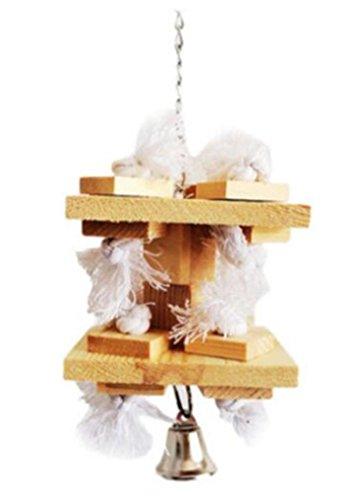 Papagei Spielzeug rein natürliche protokolliert Baumwoll Seil dauerhafte kauen ungiftig Small Medium Papagei kauen Spielzeug -
