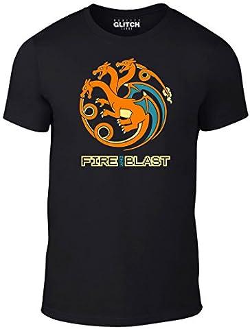 Bullshirt T-shirt pour homme Feu et Blast T-shirt, noir, Taille M