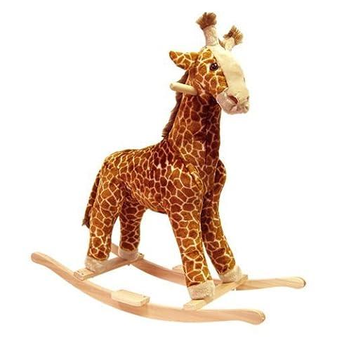 Happy Trails Giraffe Plush Rocking Animal by TRADEMARK