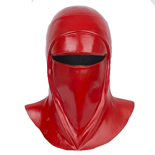 yacn Imperial Royal Guard Maske Cosplay, Royal Guards Helm Kostüm Imperial Guard Headgear, 2018 Film Star Wars, Latex, rot (RoyalGuard-Maske) (Red)