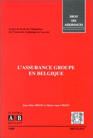 L'assurance groupe en Belgique par Binon, Crijns