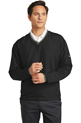 Nike Golf–V-Neck Wind Shirt Gr. XXXX-Large, schwarz (Golf Windshirt Nike)