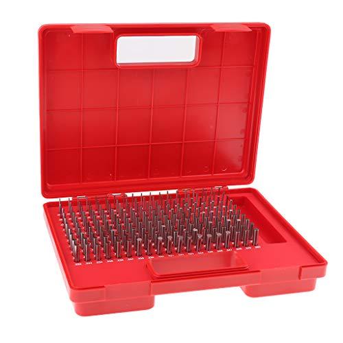perfk 190x Pin Gauge Set, Wolframstahl, M1, 0.061-0.250 Zoll