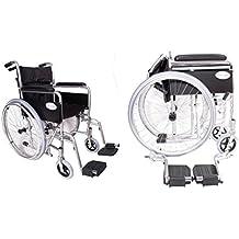 In alluminio leggero, pieghevole, auto movente in PU, colore: argento metallizzato Cuscino per sedia a rotelle senza valore £ 20.
