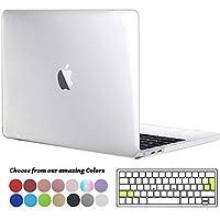 Tecool Funda MacBook Pro 13 2016/2017/2018, Plástico Duro Case Carcasa con Tapa del Teclado para MacBook Pro 13.3 Pulgadas con/sin Touch Bar & Touch ID Modelo: A1706 A1708 A1989-Cristal Transparente