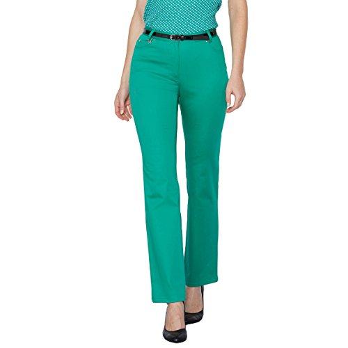 La Redoute Anne Weyburn - Donna Pantaloni 5 tasche in cotone Verde