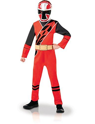 m Ninja Steel rot für Kinder 122/128 (7-8 Jahre) (Ninja Kostüm Schuhe)