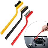 Aloud Creations Gas Stove Cleaning Wire Brush Kitchen Tools Metal Fiber Brush Strong decontamination, in-Depth Small Gaps Clean