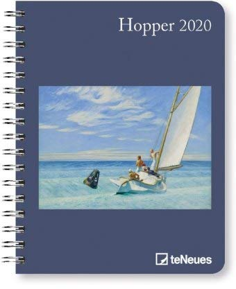 Hopper - Buchkalender Deluxe 2020 - Kalenderbuch A5 - Taschenkalender - teNeues-Verlag - National Geografic - Taschenplaner mit Spiralbindung - 16,5 cm x 21,6 cm - Kunstkalender -