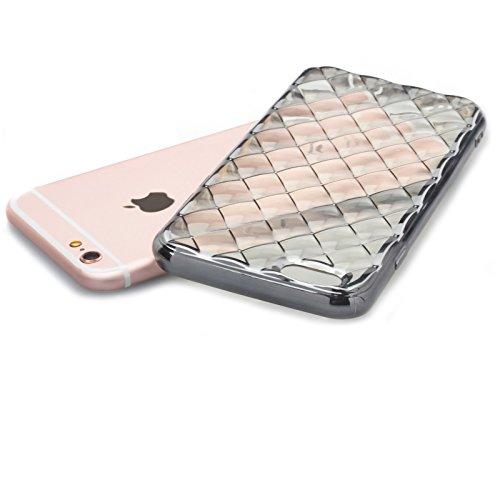 Apple iPhone 6S / 6 | iCues Pasilla Chrom Case Silber | Transparent Klarsichthülle Durchsichtig Klare Klarsicht Silikon Gel Chrome Schutzhülle Hülle Cover Schutz Silber