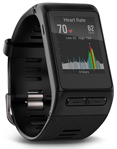 Garmin vivoactive HR Sport GPS-Smartwatch - integrierte Herzfrequenzmessung am Handgelenk, diverse Sport Apps, Smart Notification, Activity Tracker, 1,5 Zoll (3,8cm) Farbdisplay (Herren Fit-sensor)