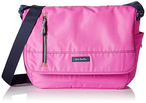 Vera Bradley Women's Lighten Up Laptop Messenger, Bright Orchid - Aus Handtaschen Vera Leder Bradley
