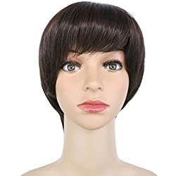 Haironline Big Sale Short Wig Bob Wig Lady Hair Bob Middle Part Peruca Middle Part Bob Wig Fashion Accessories For Men Women Kids