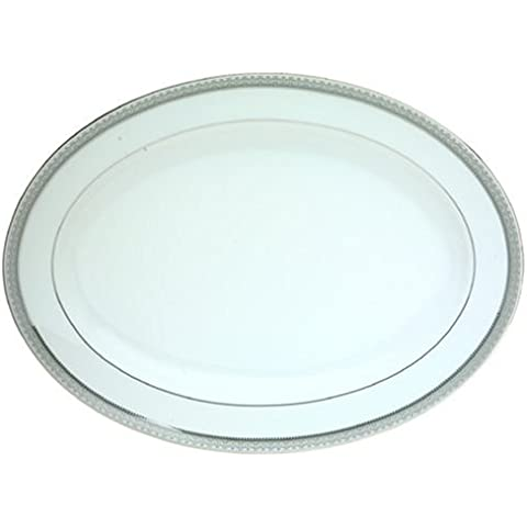 Mikasa Platinum Crown Oval Platter, 14-Inch by Mikasa