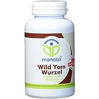 manako Wild Yams Wurzel vegetarische Kapseln, 120 Stück, Dose a 54 g (1 x 120 Kapseln) preisvergleich bei billige-tabletten.eu