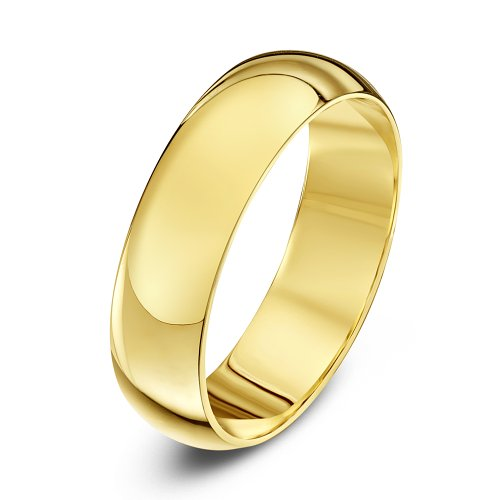 Theia Unisex Super Heavy Weight 5 mm D Shape 9 ct Yellow Gold Wedding Ring - X