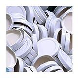 50 Stück X to 53 mm Weiß Schraubdeckel für Gläser • Twist Off Deckel Verschluss Ø 53mm • Ersatzdeckel To53 • 25,50,100,150,200,250,500 Stück • Große Auswahl Verschiedene Größen und Farben