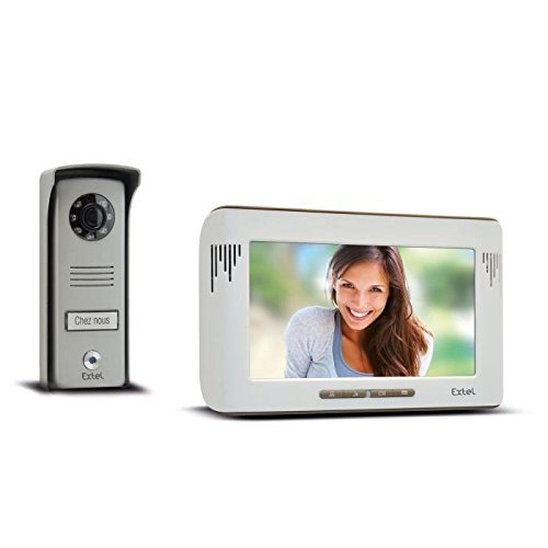 Extel 720215 Mika Colour Videophone with 2 x Wires and 7 Inch/18 cm Monitor