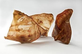 Premium | Bien-être supérieur | 50 paquet d'oreilles de gros porcs séchés | Naturel Nourriture pour chiens | Récompense de traitement de mastication par 123 Direct Pets | Fabriqué en Europe | Pas une mauvaise importation chinoise !