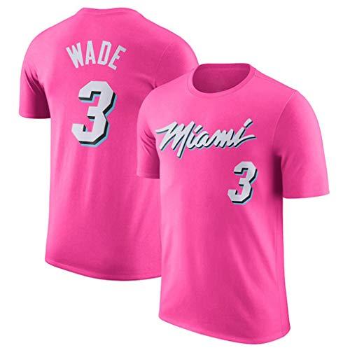 Miami Heat Dwyane wade Kurzarm T-Shirts Basketball Training Laufsport Fit Oberteile Sport Herren Fitness T-Shirt Tee Tops Dwyane Wade Jersey