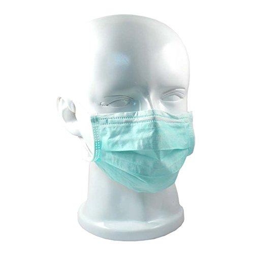 OP-Mundschutz mit Gummizug 50er Pack verschiedene Farben (grün)