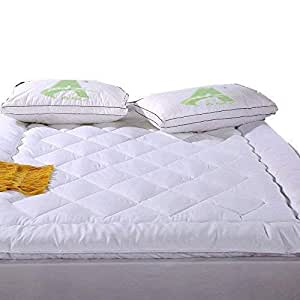 AMZ Finest Imported Quality 500 GSM Super Microfiber Mattress Padding/Topper for Home (72 x 78 Inches, White)