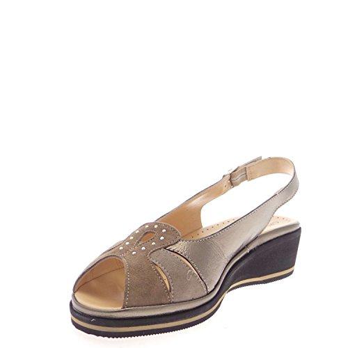 GRUNLAND ELOI SA0784 Sandalo Donna Canna Fucile/beige