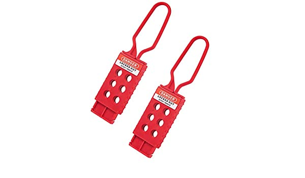 OHMOTOR 2 Pack Lockout Hasp Nylon Red