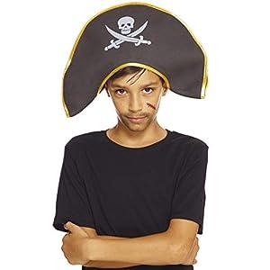 AEC-chapeau de pirata disfraz, unisex infantil, aq04604, talla única