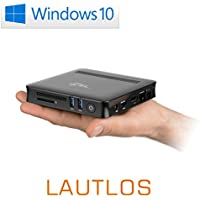 Mini PC - lautlose CSL Narrow Box Ultra HD Compact/Win 10 - Silent-PC mit Intel QuadCore CPU 2200MHz, 32GB SSD, 4GB DDR3-RAM, Intel HD, AC WLAN, USB 3.1, HDMI, SD, Bluetooth, Windows 10