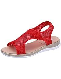 43c61b7f57a27 PAOLIAN Sandalias de Vestir para Mujer Verano 2018 Playa Romano Sandalias  Suela Blanda Antideslizante Zapatos de