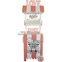 CARRITO DE CHUCHES Candy Cart Junior Bodas Rosa.para Decorar.Reutilizable, Medidas 170cms