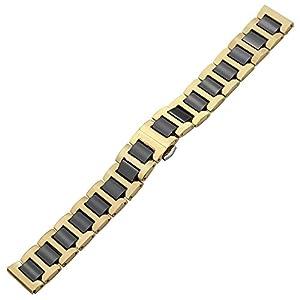 TRUMiRR 22mm Ceramic Watch Band Correa de liberación rápida Todos los enlaces Desmontable para Samsung Gear 2 R380 R381 R382, Gear S3 Clásico / Frontera, Moto 360 2 46mm, Asus ZenWatch 1 2 Hombres, Pebble Time, LG Urbane W150 por TRUMiRR