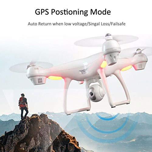 Dailyinshop 4 Achsen S70W Full HD 1080 P Dual GPS-2,4 GHz Wifi / FPV Drone Quad Hubschrauber Flugzeug (Farbe: weiß)