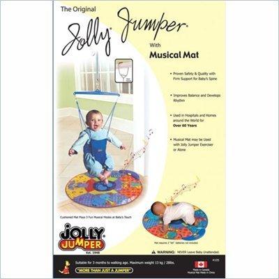 Jolly Jumper Exerciser & Musical Mat Gift Set 41J6KKzHmAL
