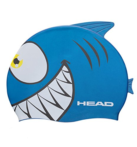 Head meteor carattere cuffia da nuoto in silicone, colore: blu squalo