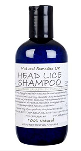 Natural Head Lice Shampoo 250ml: SLS Paraben Free For Adult & Children