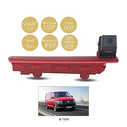 HD-Dritte-Dach-Top-Mount-Bremsleuchte-Kamera-Bremslicht-Einparkkamera-Rckfahrkamera-Set-Nachtsicht-Kamera-70-Zoll-Monitor-Bildschirm-LKW-KFZ-Display-fr-VW-T5-T6-TransporterCaravelleMultivan
