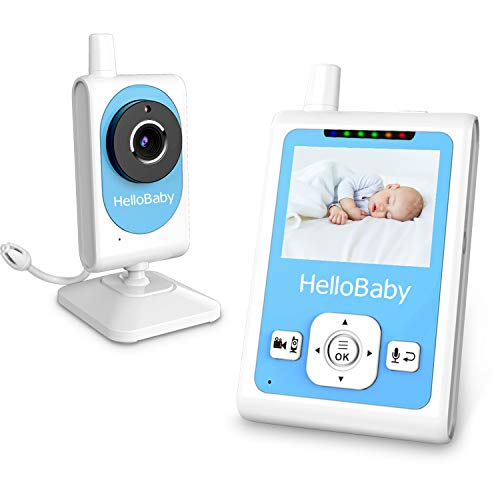 HelloBaby HB25 Wireless Digital Video Babyphone Video Aufnahme, Zwei Wege TalkBack, Wiegenlied Schnuller System, Automatische Nachtsicht & Motion Detection Alarm, Temperaturüberwachung (Motion Schnuller)