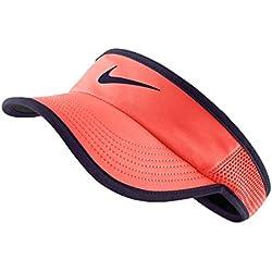 Nike W Nk Arobill Fthrlt Visor - Visera para mujer, color naranja, talla XS/S