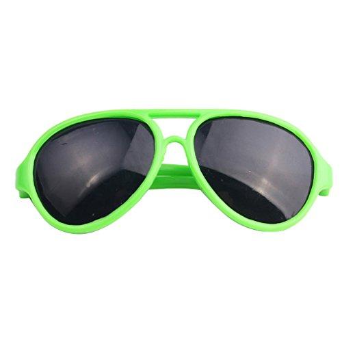 Sharplace 1 Paar Puppen Brillen Oval Rahmen Sonnenbrille Gläser für 18 '' American Girl Puppe Zubehör - Grün