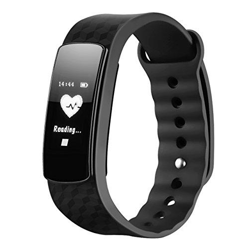 Mpow Fitness Tracker mit Pulsmesser Bluetooth 4.0 Smart-Herzfrequenz Monitor Schrittzähler Schlafanalyse Aktivitätstracker Kalorienzähler Schlaftracker für Android und iOS Smart Phones.